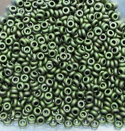 11-617 - 11/0 Olive Green Matte Metallic, 7.2 Grams