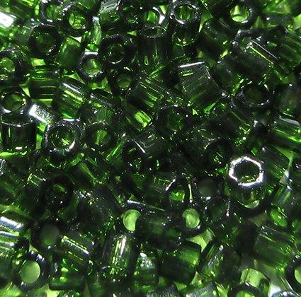 8H-940 8/0 Hex Olivine Transparent