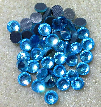 HF60-5 - 5mm Aqua Hot FIx Crystals, 50/Package