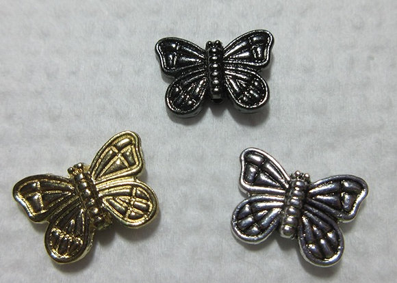15mm x11mm Metal Butterfly Bead