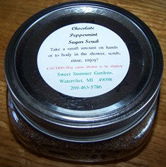 Chocolate Peppermint Sugar Scrub