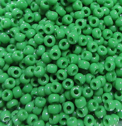 11-411K 11/0 Opaque Kelley Green, 22 gram Tube