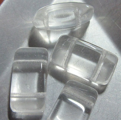 2-Hole 9x17mm Glass Carrier - Crystal