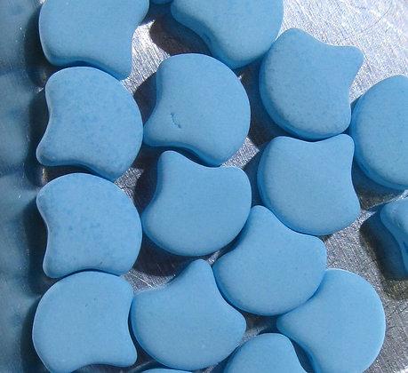 7.5x7.5mm 2-Hole Ginko Bondeli Matte Blue