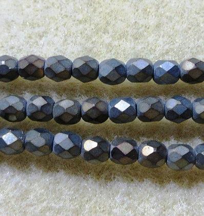 4-65 - 4mm Matte Bronze Iris Fire Polish, 50/Strand