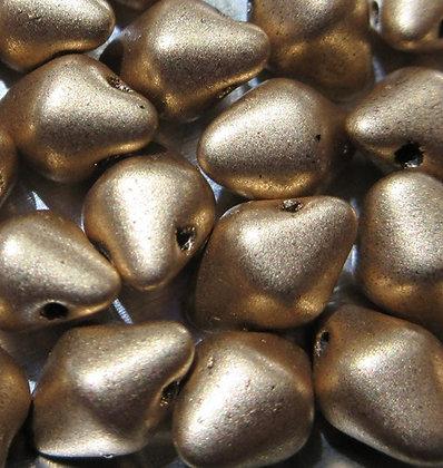 4.5x6.5mm Spikey Button, Aztec Gold, 50 Pieces