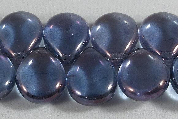 12x16mm Luster Trans. Amethyst Flat Pear Drops