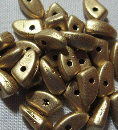 3x6mm Prong Matte Metallic Flax