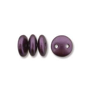 6mm Purple 2-Hole Lentil