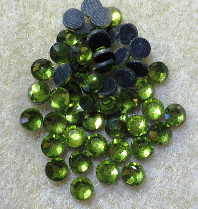 HF81-5 - 5mm Olivine Hot Fix Crystals, 50/Package
