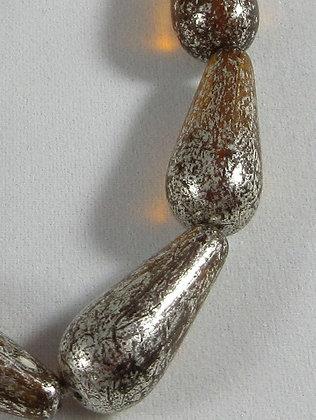 9x20mm Mercury Amber Dangle Drop