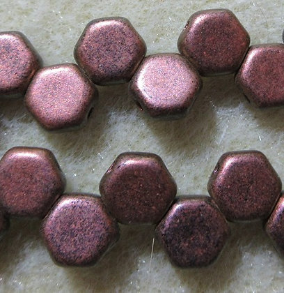6mm 2-Hole Honeycomb Motley Copper Ombre