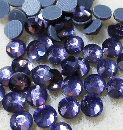 HF52-4 - 4mm Tanzanite Hot Fix Crystals, 50/Package