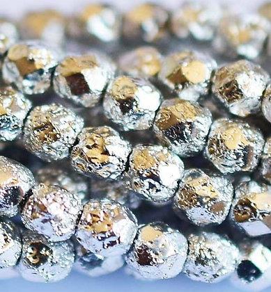 4mm Silver Ore Etched Fire Polish