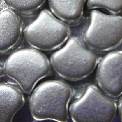 7.5x7.5mm 2-Hole Ginko Bronze Aluminum