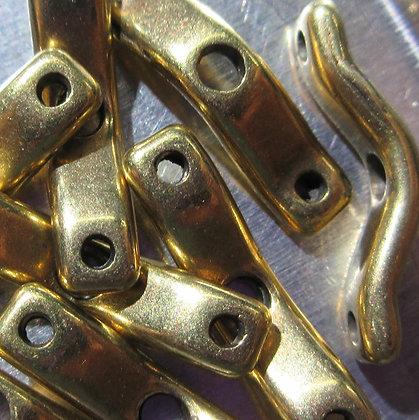 18x4mm 3-Hole BowTrio Antique Brass