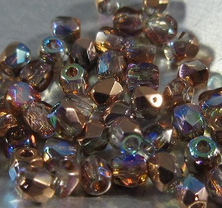 True 2mm Crystal Copper RB Fire Polish