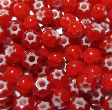 6-93730 6/0 Red Cornelian Star