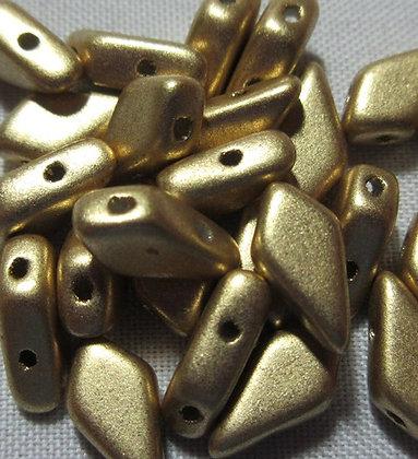9x5mm 2-Hole Kite Bronze Pale Gold