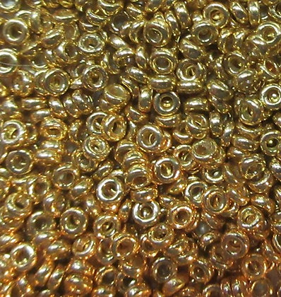 4202 - 2.2x1mm Spacer, Galvanized Gold, 7 Grams