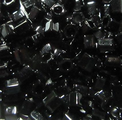 8H-49 8/0 Hex Opaque Black