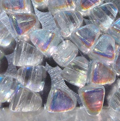 6x5mm 2-Hole Nibbit Crystal AB
