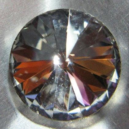 10mm Crystal Rivoli, Point Back, Foiled
