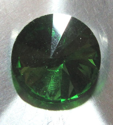 10mm Kelly Green Rivoli, Point Back, Foiled