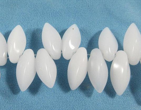 6x12mm White Twist Drops