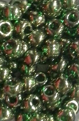 6-306 Transparent Green Gold Luster