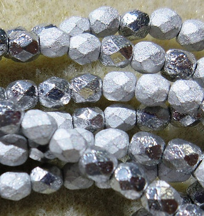 4-100 - 4mm Etched Crystal Full Labrador Fire Polish, 50/Strand