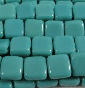 Turquoise Opaque Tile Bead