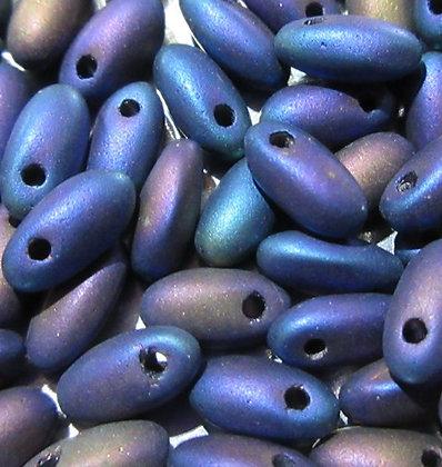 2.5x6mm Rizo, Jet Blue Iris Matte, 8 grams