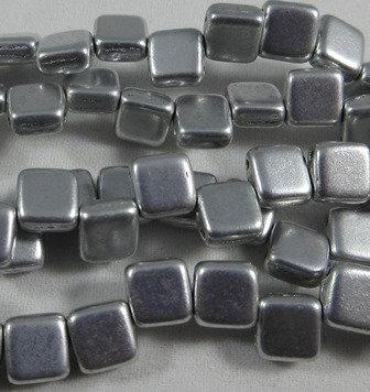 Matte Silver Tile Bead