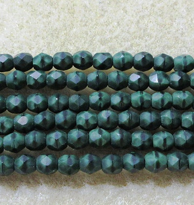 4-44 - 4mm Forest Green Fire Polish, 50/Strand