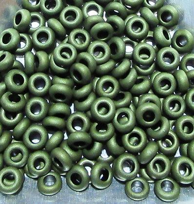 6-617 - 6/0 Olive Green Matte Metallic, 7.2 Grams