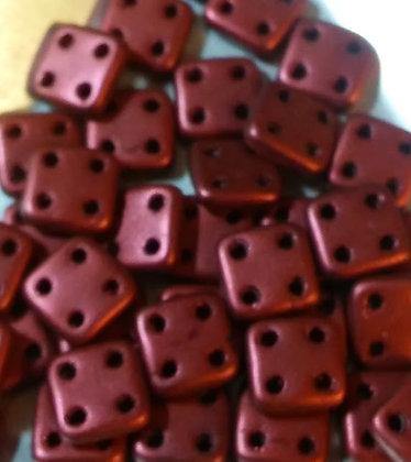Quadratile Metallic Lava Red