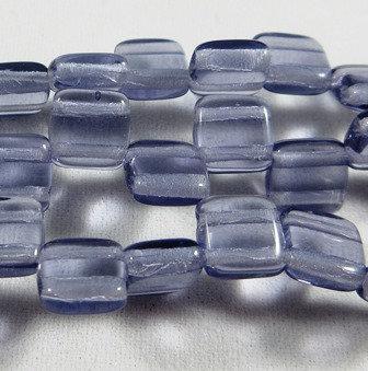 Light Purple Transparent Tile Bead