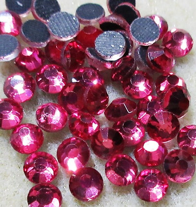 HF46-4 - 4mm Rose Hot Fix Crystals, 50/Package