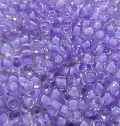 11-222 11/0  Sparkling Crystal Lilac Lined