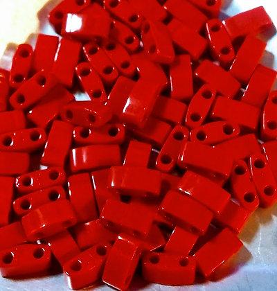 Half Tila Opaque Cherry Red