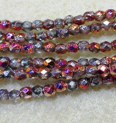 3mm Infernal Etched Fire Polish, 50/Strand