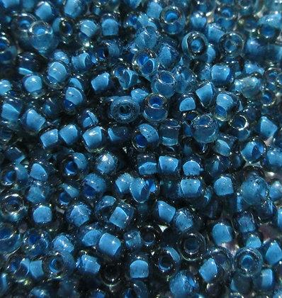 11-387F 11/0 Montana Light Blue Lined