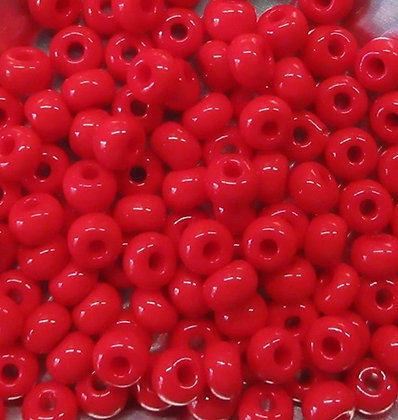 93170 - 6/0 Czech Opaque Bright Red, 22 Grams