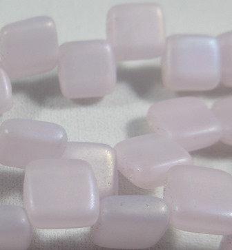 Matte Pink Rainbow Iris Tile Bead