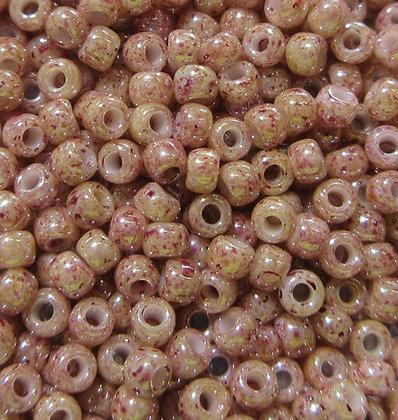 11-T250 11/0  Beige Pink Marbled Opaque