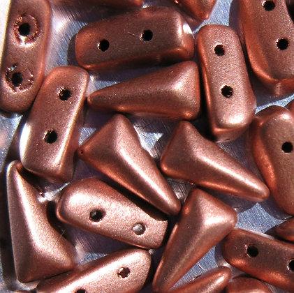 5x8mm 2-Hole Vexolo Vintage Copper
