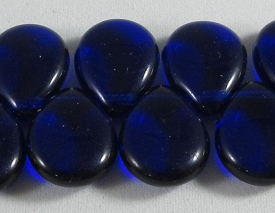 12x16mm Cobalt Flat Pear Drop