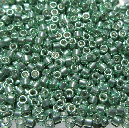 DB-414  11/0 Delica Galvanized Green - Dyed