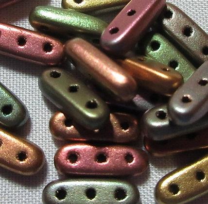 3x10mm 3-Hole Beam Matte Metallic Bronze Iris